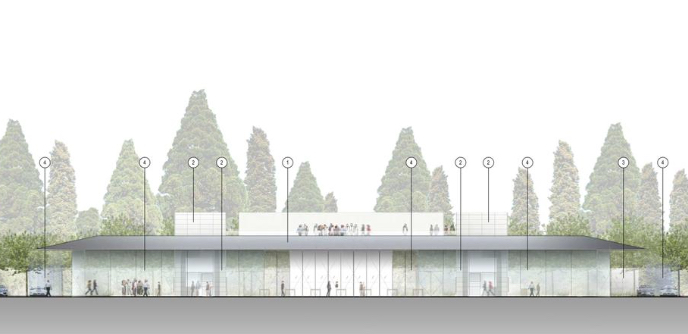 Apple Campus 2 Visitor's Center, image via Silicon Valley Business Journal