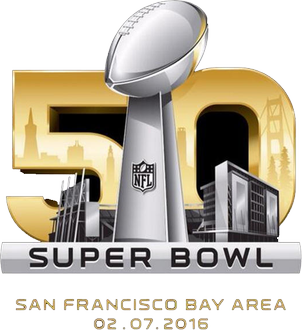 Official Super Bowl 50 Game Logo via NFL