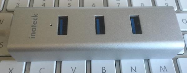 Inateck HB4102C USB-C Hub. Photo ©2015 Steven Sande.