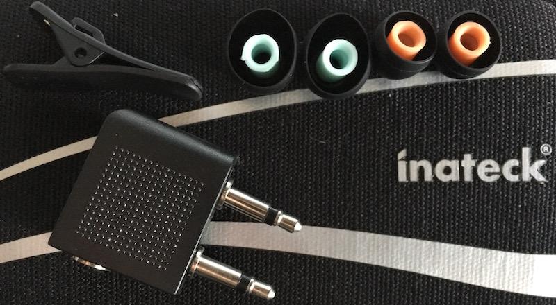 Lacerta headphone included accessories. photo©2015 steven sande