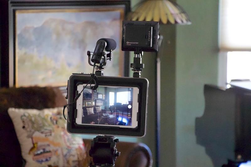 Padcaster mini set up for video interview. ©2016, Steven Sande