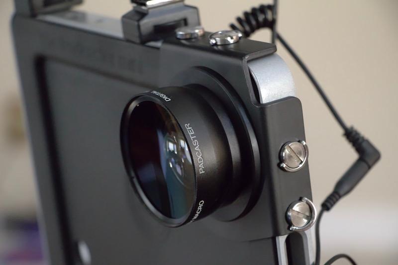 padcaster lens bracket and .45X Wide lens. ©2016, Steven Sande