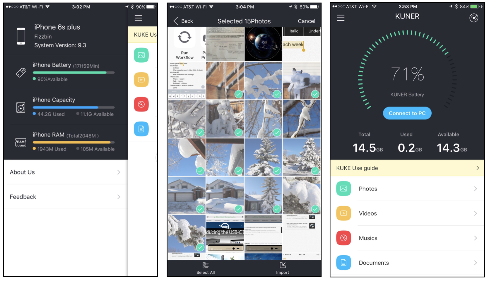 A LOOK AT THE KUKE APP.