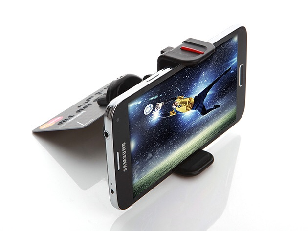 Yeah, it's a crappy Samsung phone. But just think how good your iPhone would look propped up!