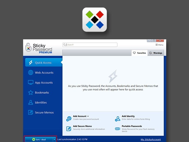 Windows version shown here. Mac and iOS versions available.