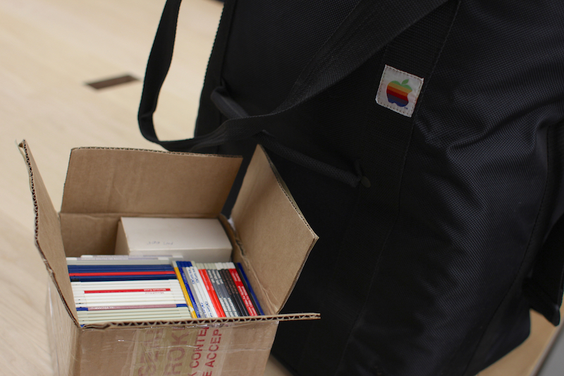 Sisson's box of floppies. Photo courtesy of Ewen Rankin.