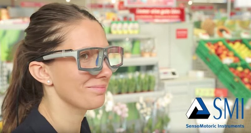 """""""Why yes, I do look like a total nerd wearing these glasses!"""" Image via SensoMotoric Instruments"""
