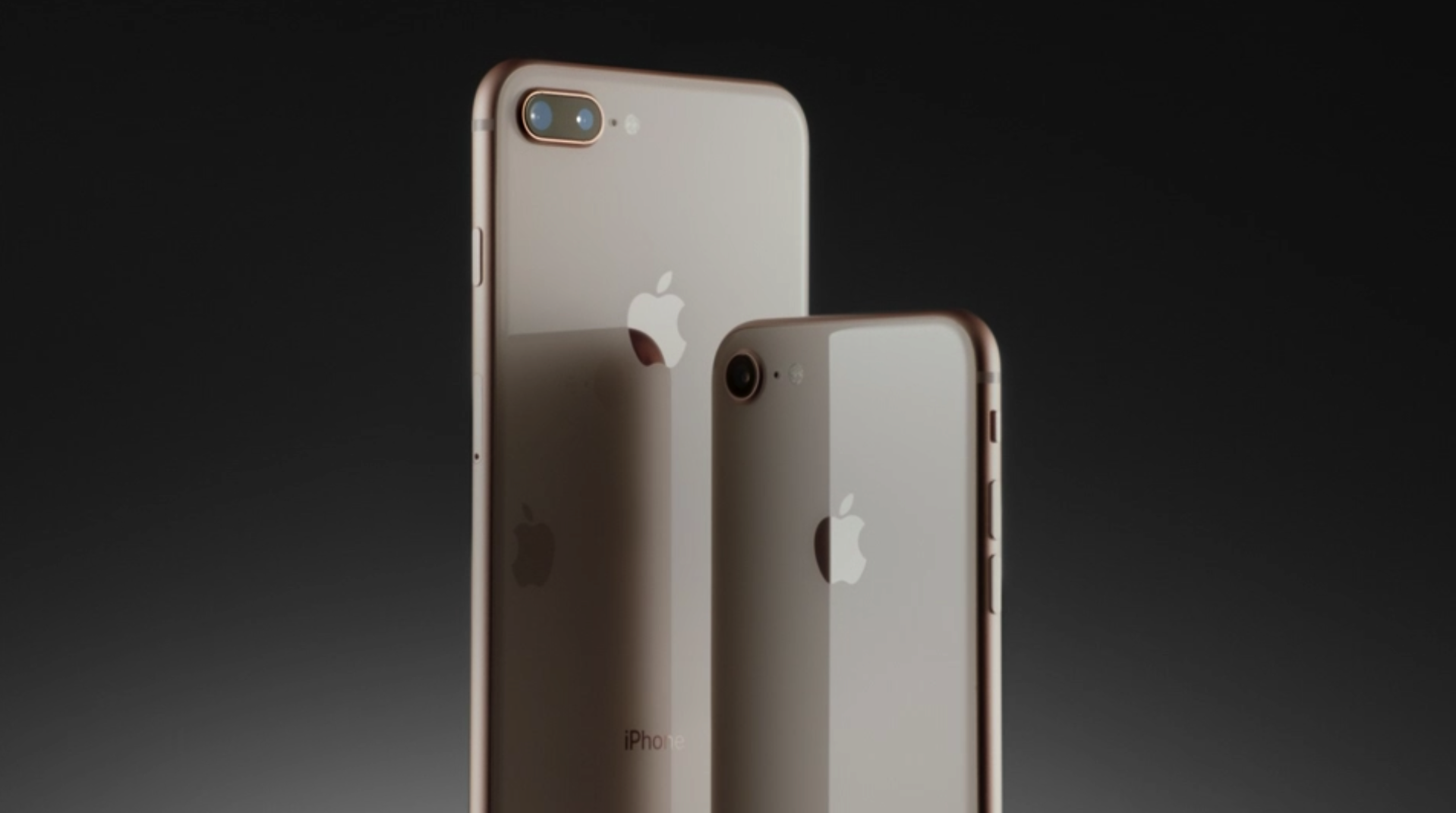 The new iPhone 8 and 8 Plus in the new blush gold color