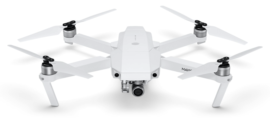 Alpine White DJI Mavic Pro Drone, available exclusively at Apple retail stores