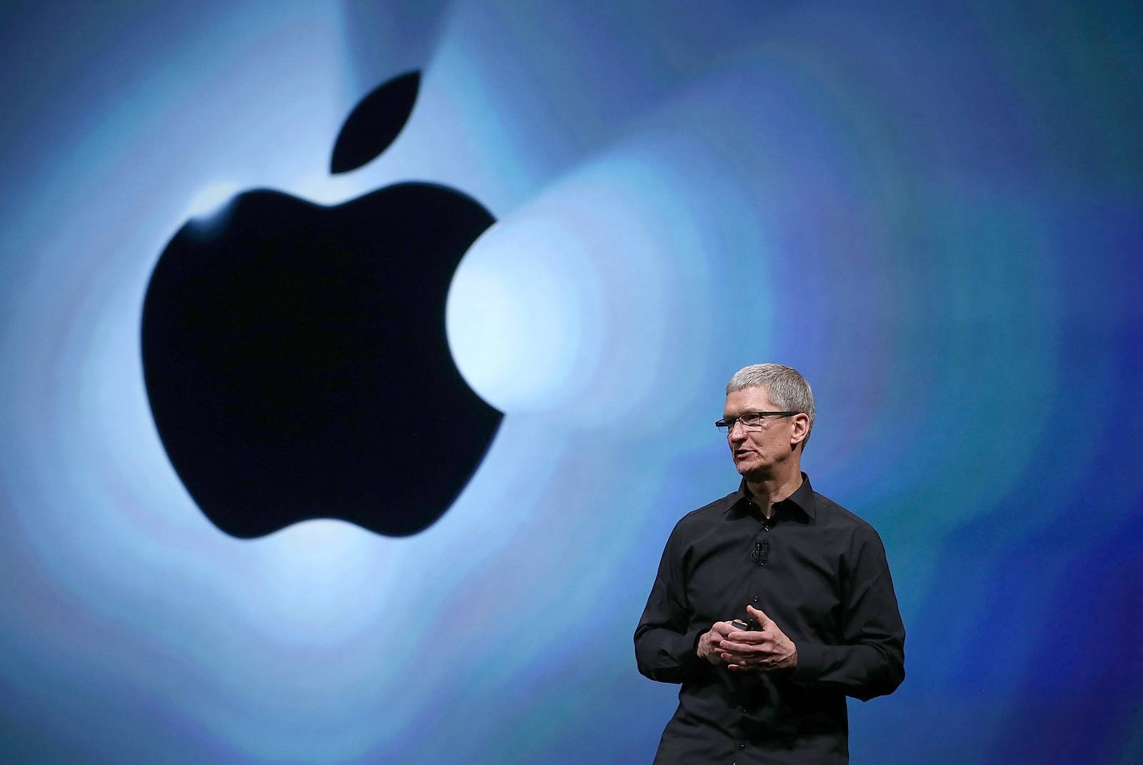 CEO Tim Cook is pictured at Apple's 2017 AGM meeting. — Photo courtesy of Reuters.