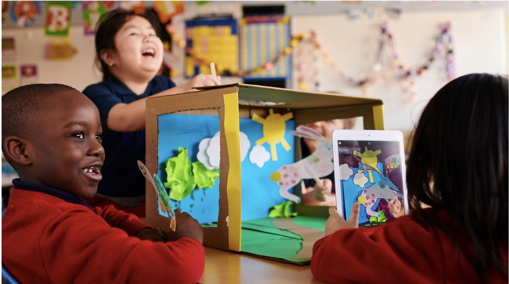 Everyone Can Create helps teachers weave creative areas like photography, music and filmmaking into their existing lesson plans. --  Photo courtesy of Apple