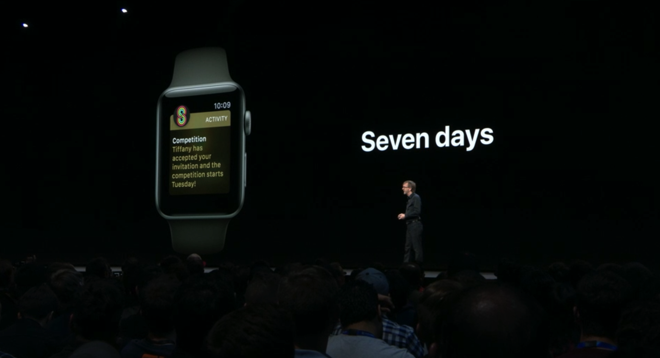 The new 7-day competitions in the Apple Watch Activity app