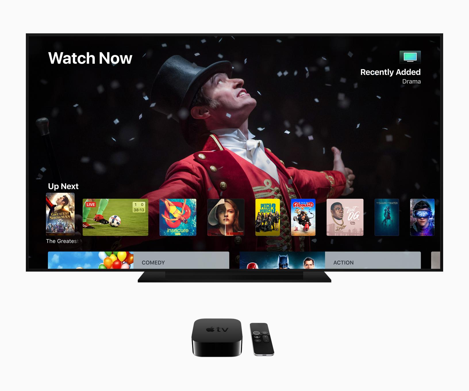 Apple TV 4K, image via Apple