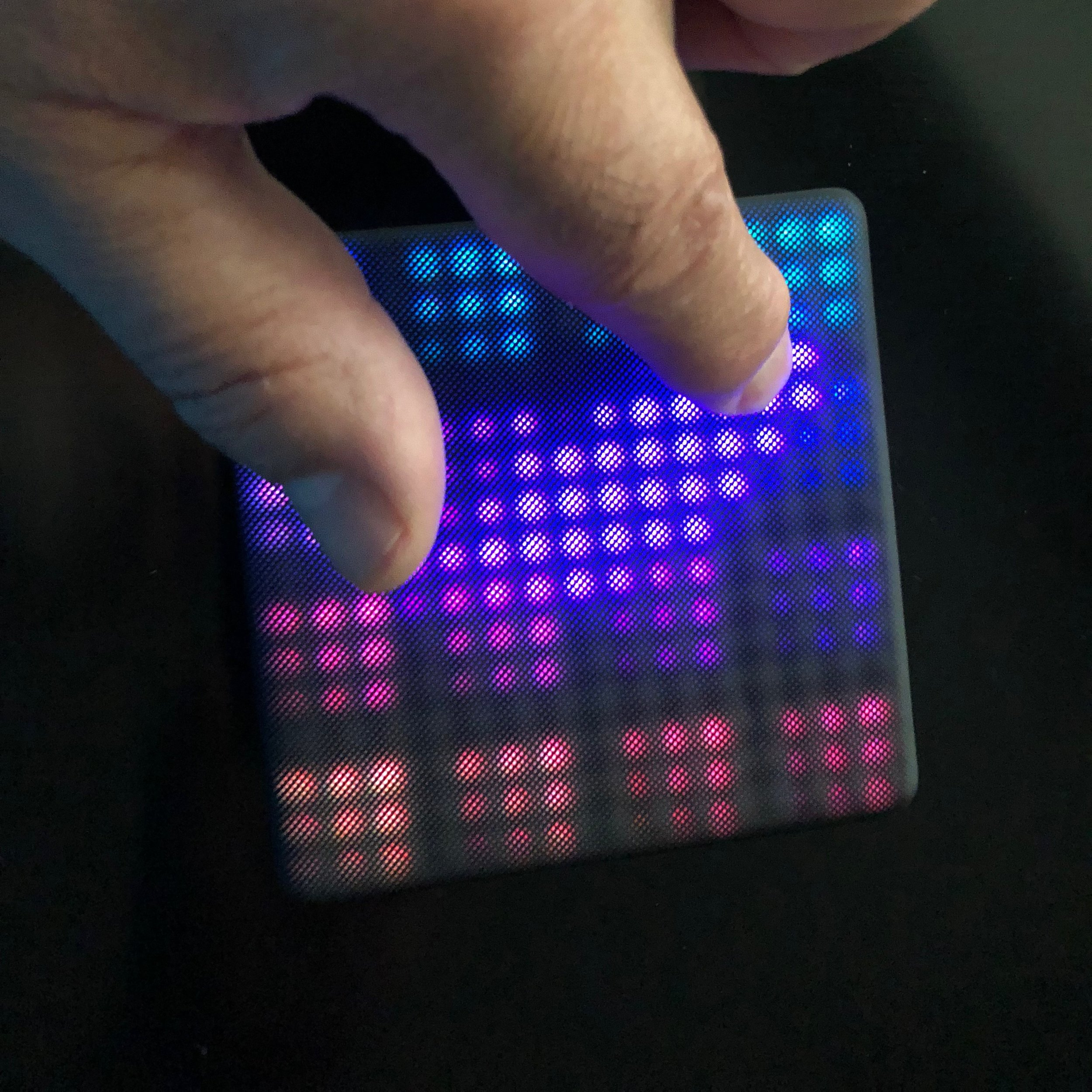 The touch gestures and LED feedback make the Lightpad Block M a unique MIDI controller