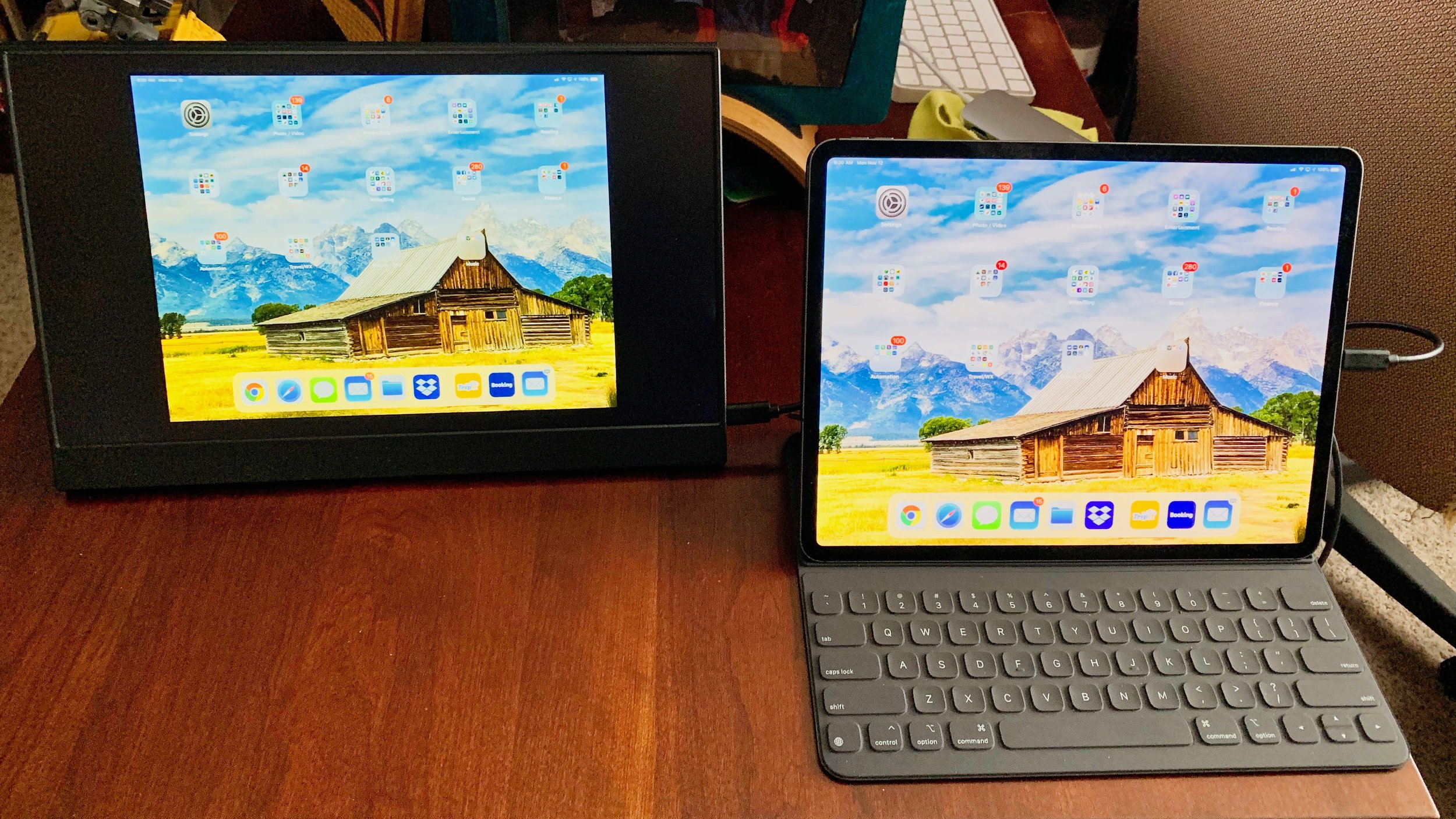 The Vinpok Split can be used as a mirrored screen for the new USB-C iPad Pro