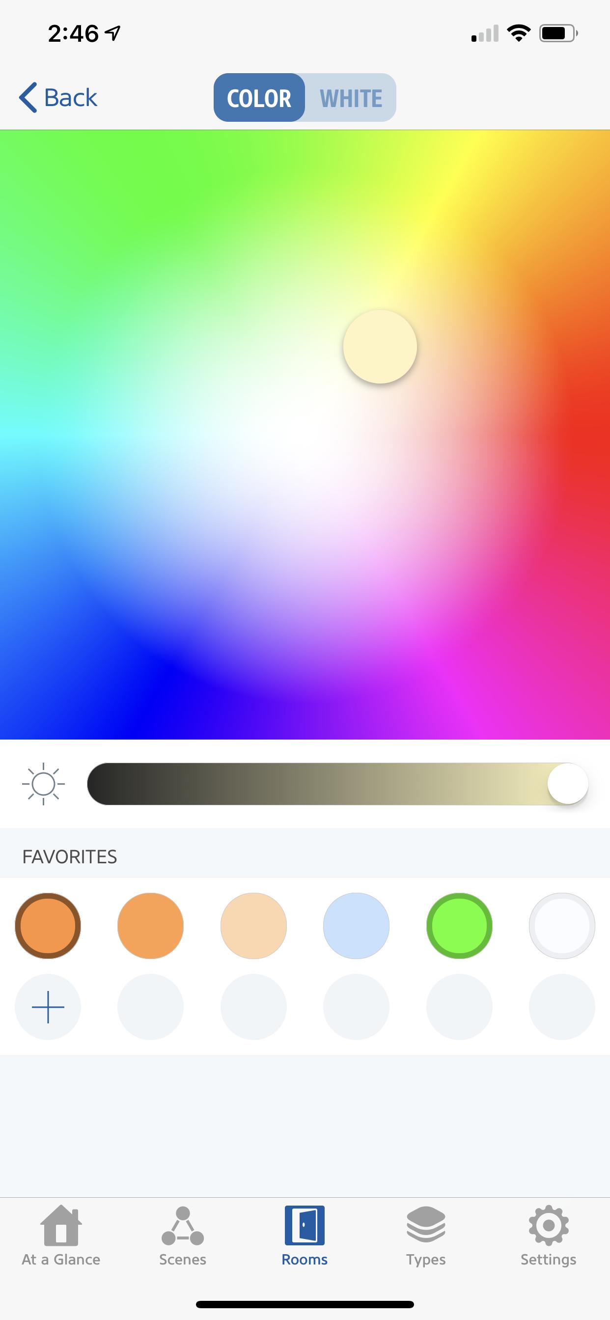 Color light settings