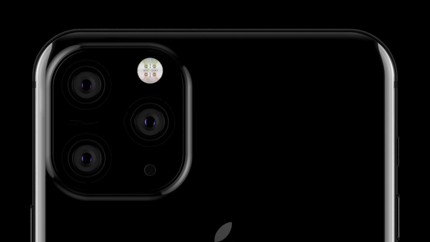 Mockup of 2019 iPhone triple-camera system, source unknown, via 9to5Mac