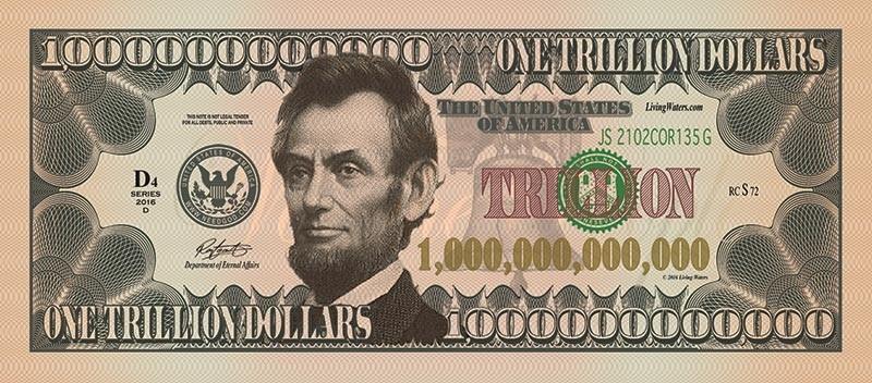 """Trillion Dollar Bill"" via Living Waters Store"