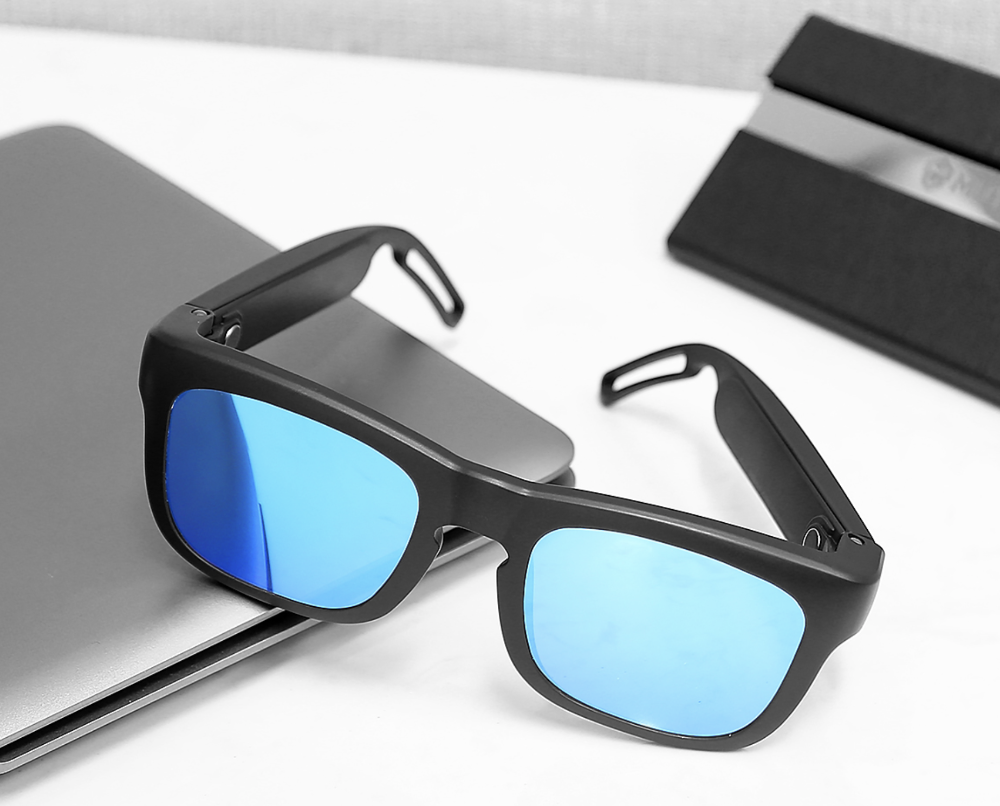 An advance look at the Mutrics sunglasses/wearable speaker combo