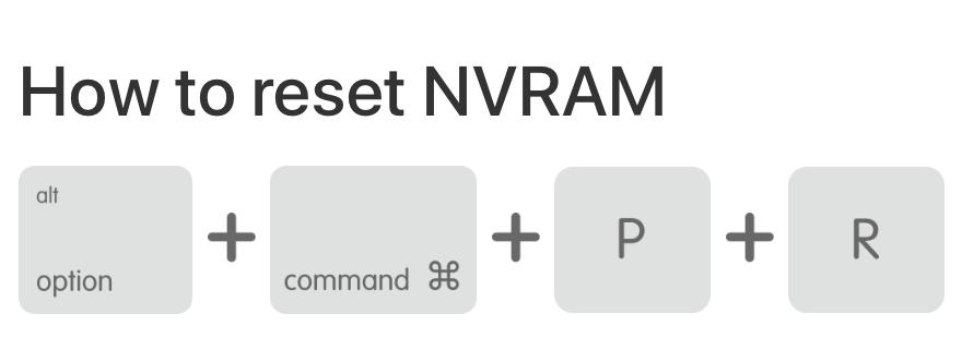 How to reset the PRAM/NVRAM on your Mac