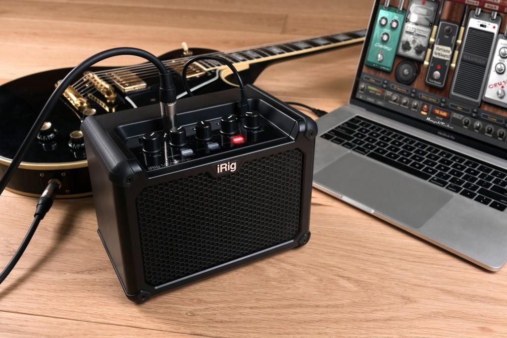 iRig Micro Amp atop a speaker cabinet. Image via IK Multimedia