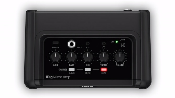 Top view of the iRig Micro Amp. Image via IK Multimedia