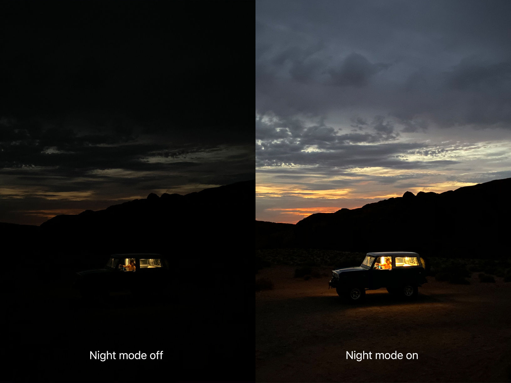 The new triple-camera system offers major advancements in photography, including Night mode. (Image via Apple)