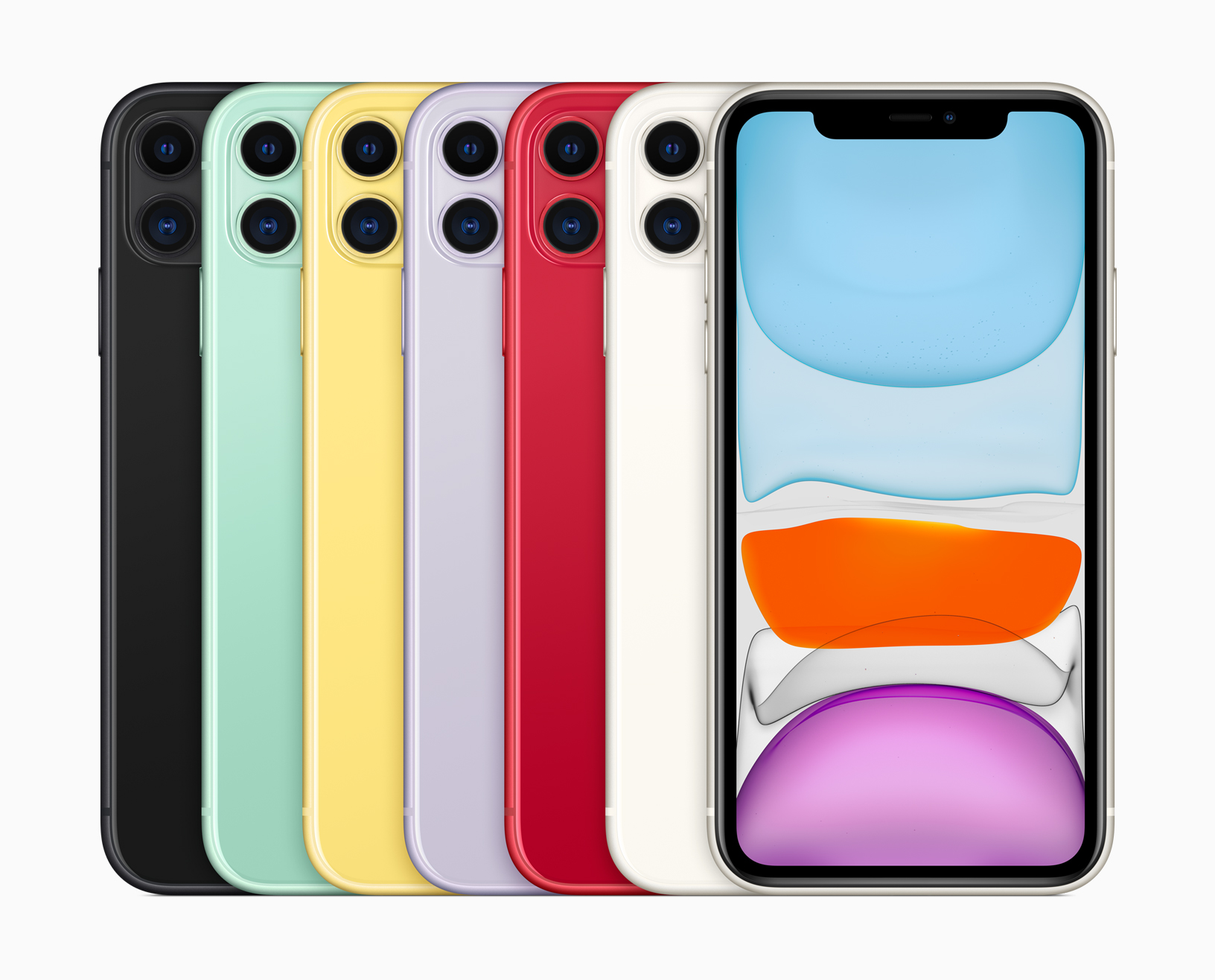 The back glass on iPhone 11 is precision milled from a single sheet of glass — the toughest glass ever in a smartphone. (Image via Apple)
