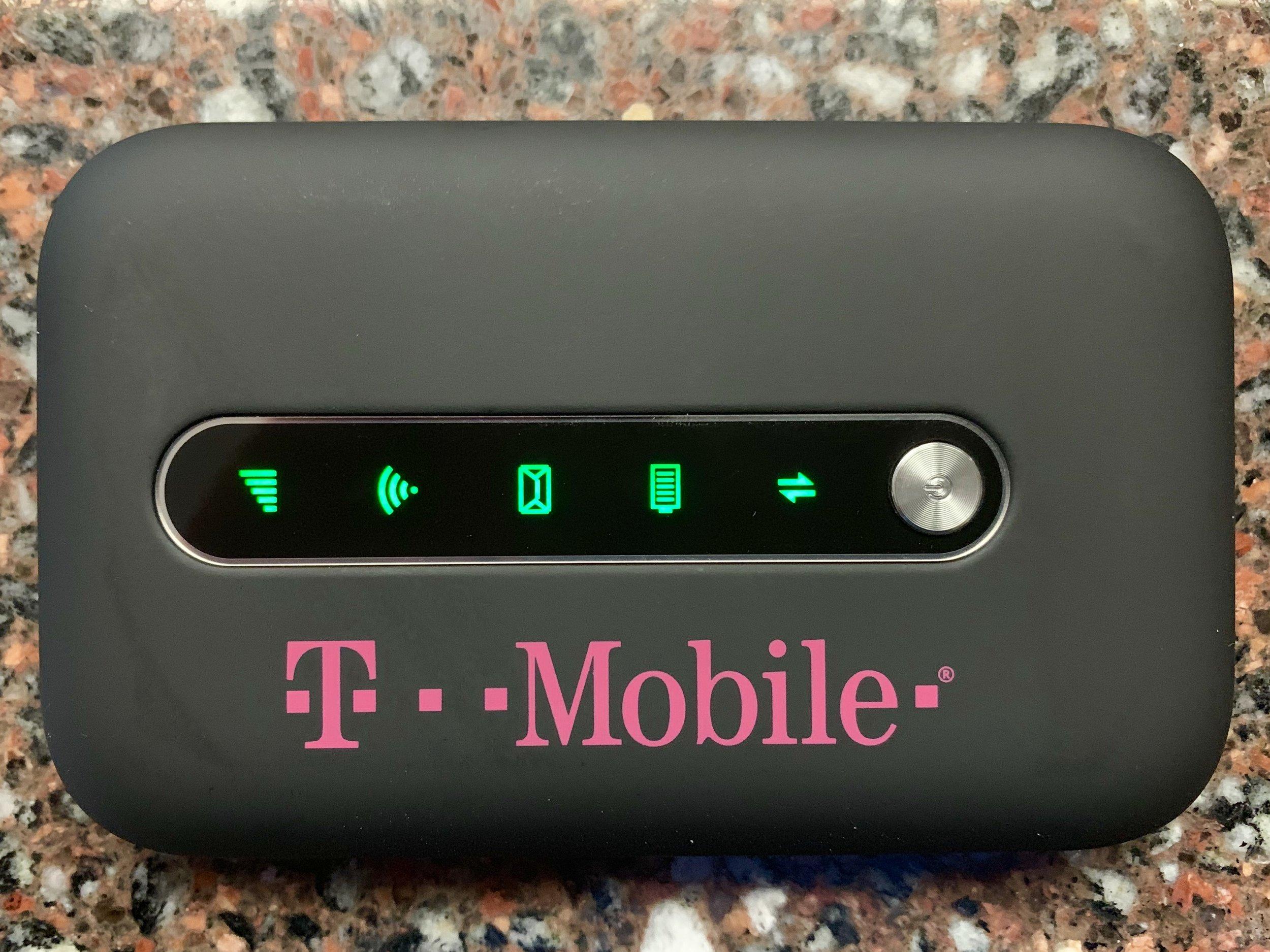 T-Mobile Test Drive hotspot. Photo ©2019, Steven Sande