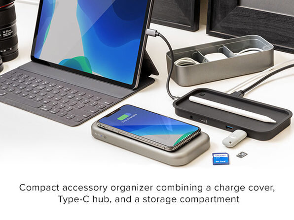BentoStack PowerHub 5000: Qi Charger, USB-C Hub, and Power Bank in one small box