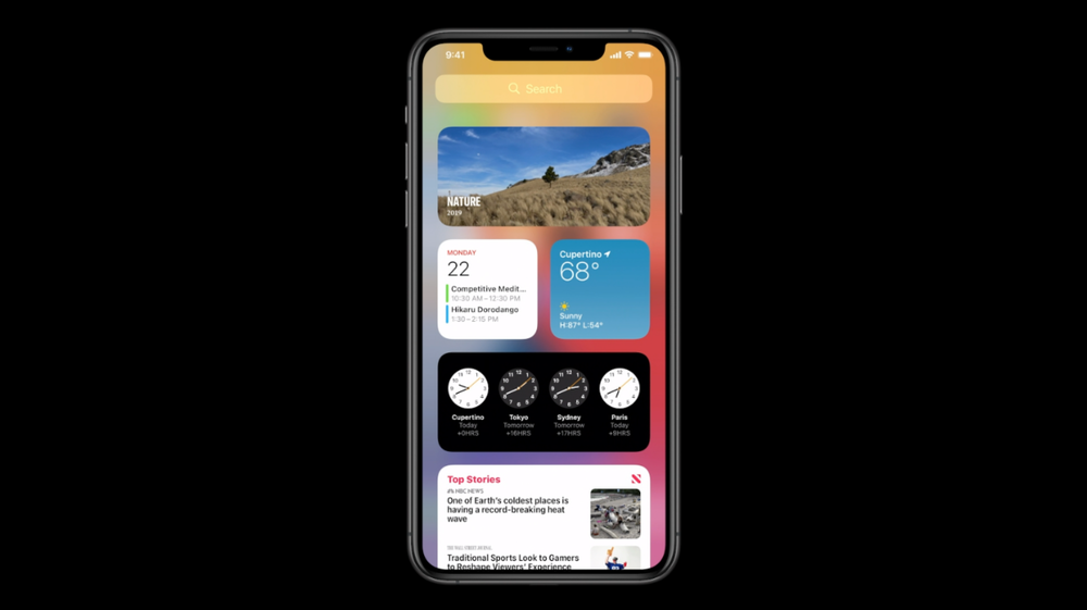 iPhone running iOS 14