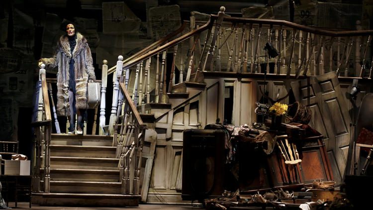 "Rachel York stars in the musical ""Grey Gardens,"" at the Ahmanson Theatre. (Francine Orr / Los Angeles Times)"