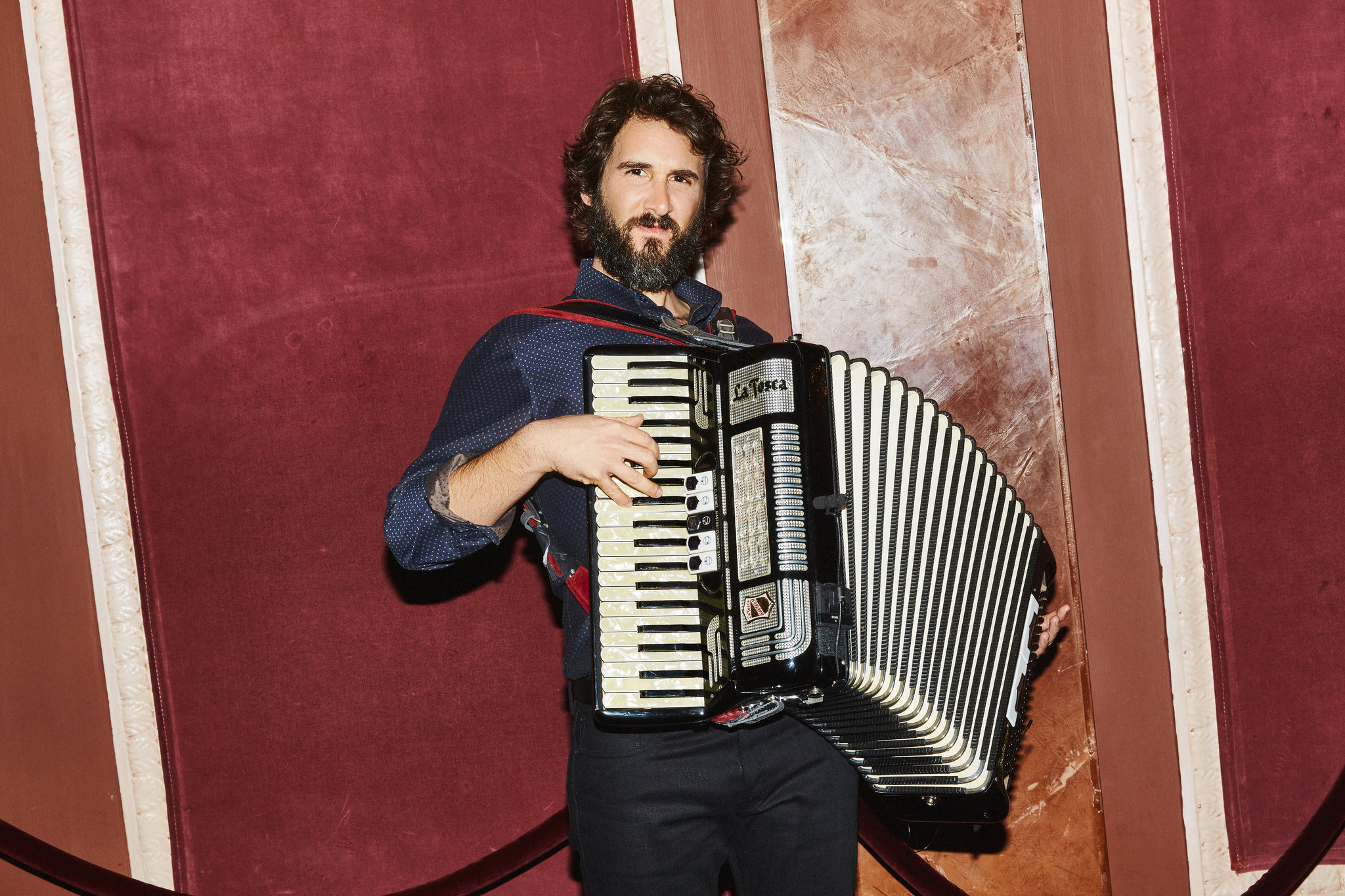"""Josh Groban at the Imperial Theater, where he stars in """"Natasha, Pierre and the Great Comet of 1812.""""  Aaron Richter for The New York Times   Write here..."""