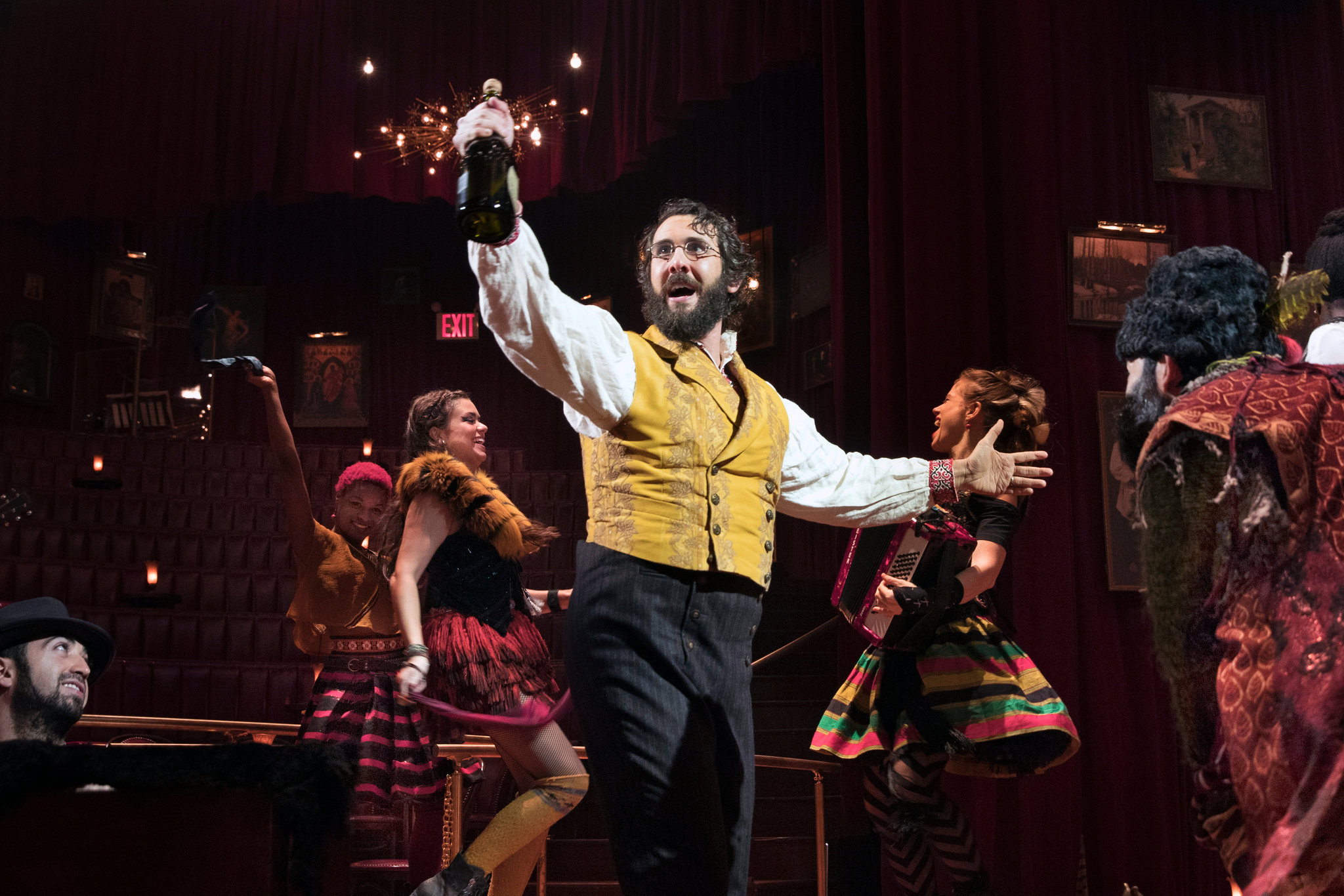 """Mr. Groban in his dance number from """"Natasha, Pierre and the Great Comet of 1812.""""  Sara Krulwich/The New York Times"""