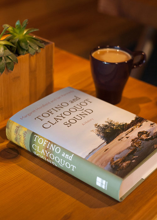 Coffee and book in our cafe.