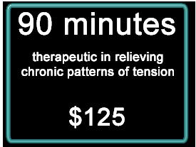 Massage Ecstasy Deep Tissue massage session 90 minutes