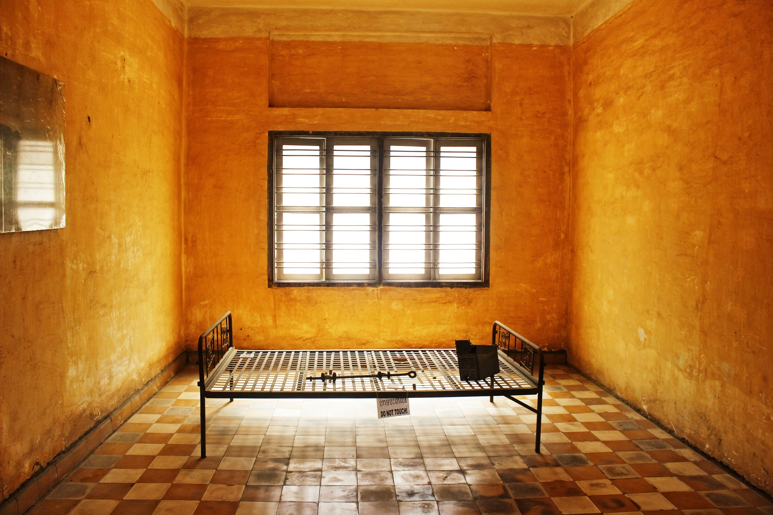 Room in the S-21 prison where special prisoners were held.