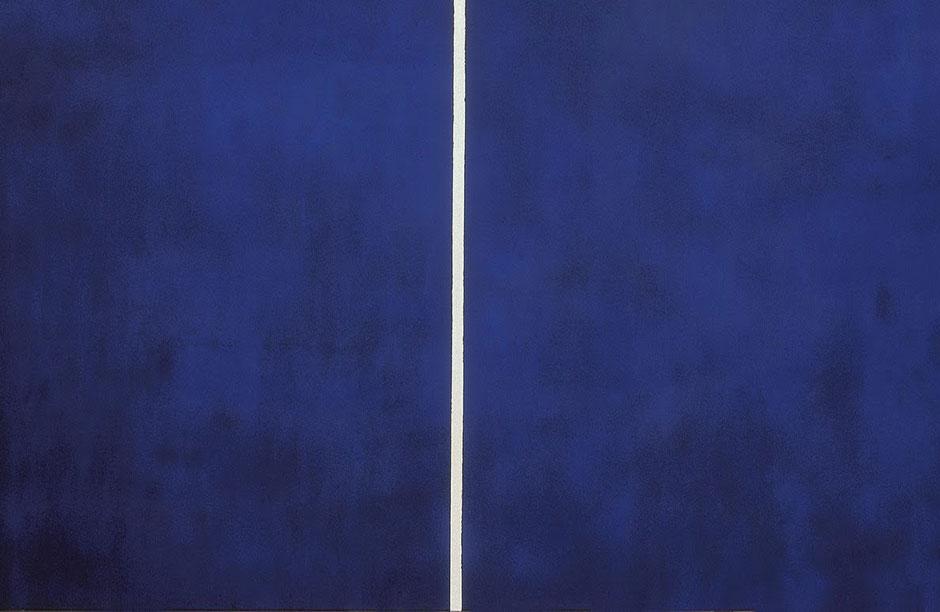 "Barnett Newman, ""Cathedra"" (1951) detail."