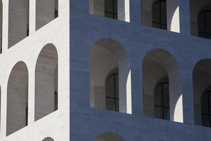 Palazzo della Civilita del Lavoro as captured by Architectural Photographer Claudio Olivia.