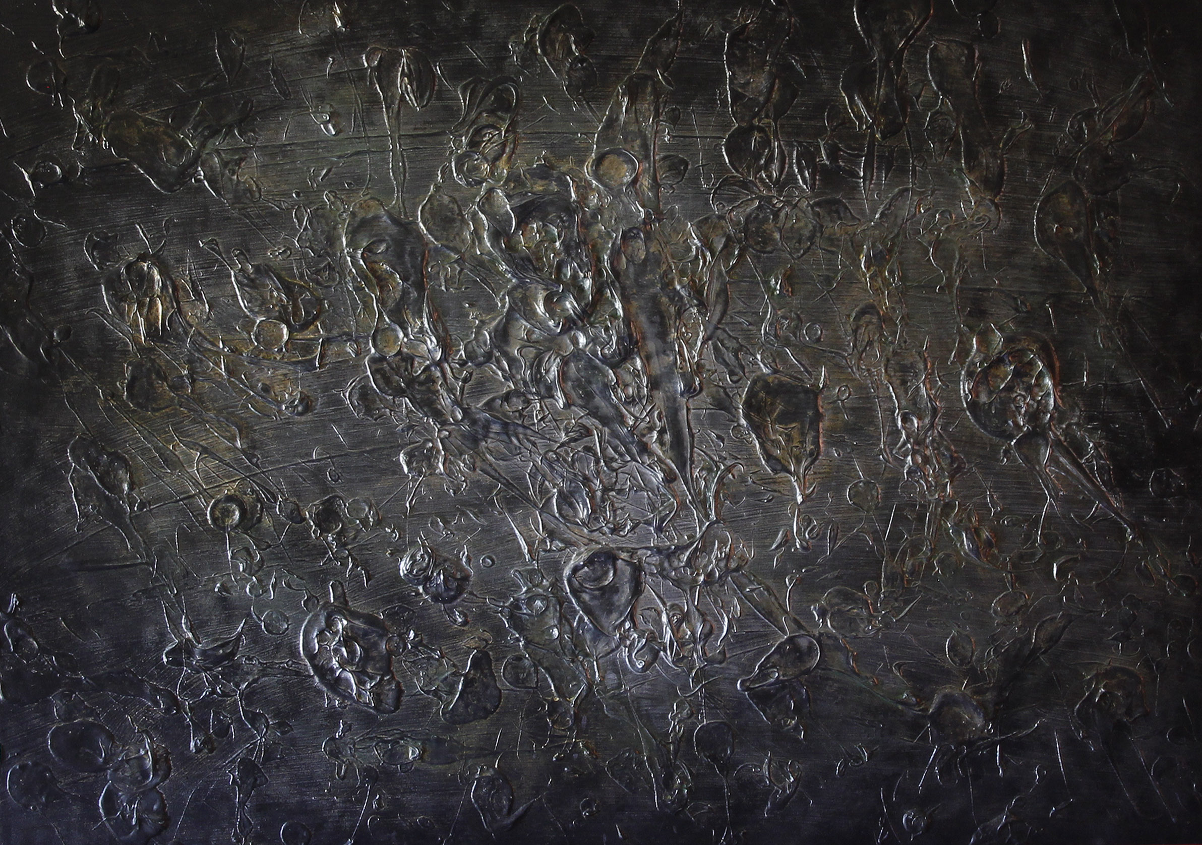 """""""Widescreen"""" Acrylic on canvas 40""""x30"""" 2009"""