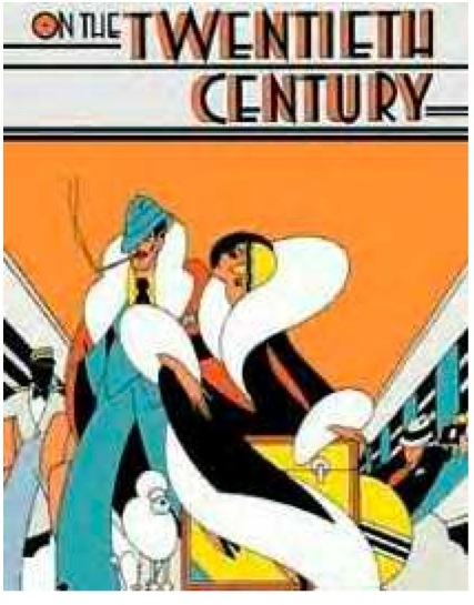 Original poster for  On the 20th Century , designed by Nicholas Gaetano.