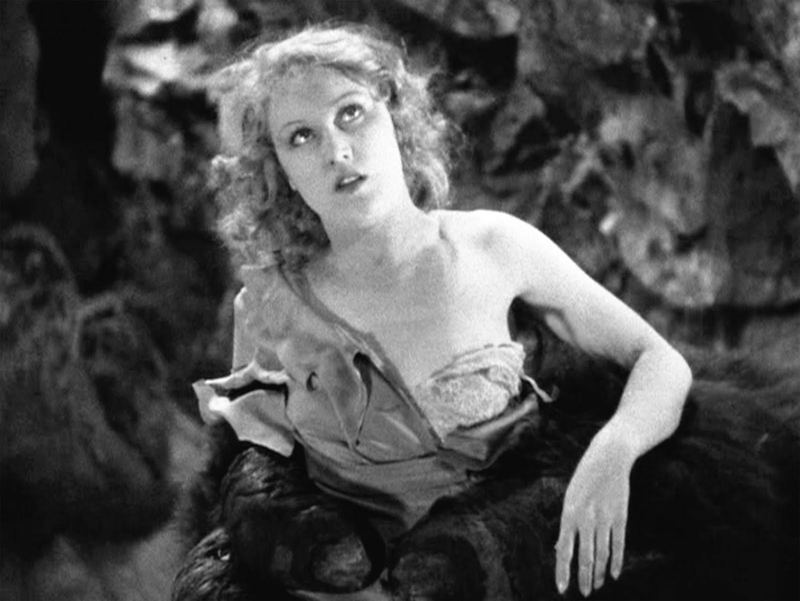 Ann Darrow (Fay Wray) partially undressed by Kong.