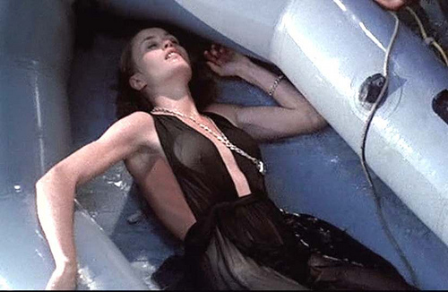 Dwan (Jessica Lange) is found unconscious in a raft.