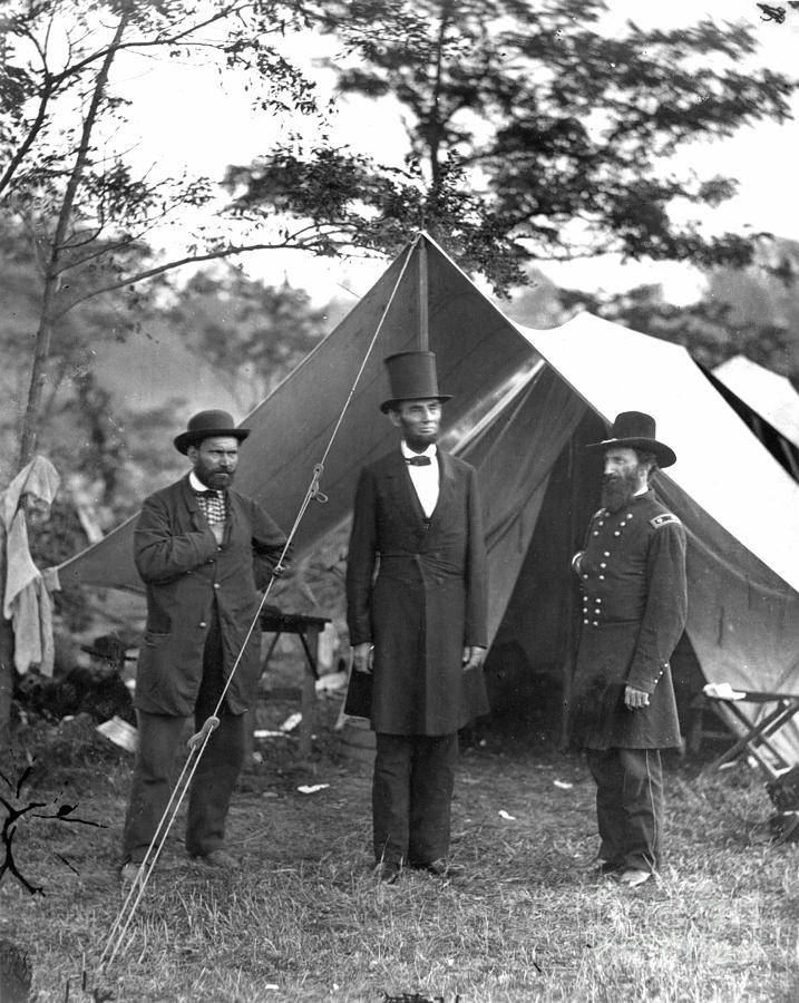 Lincoln on Battlefield of Antietam, Maryland, by Alexander Gardner