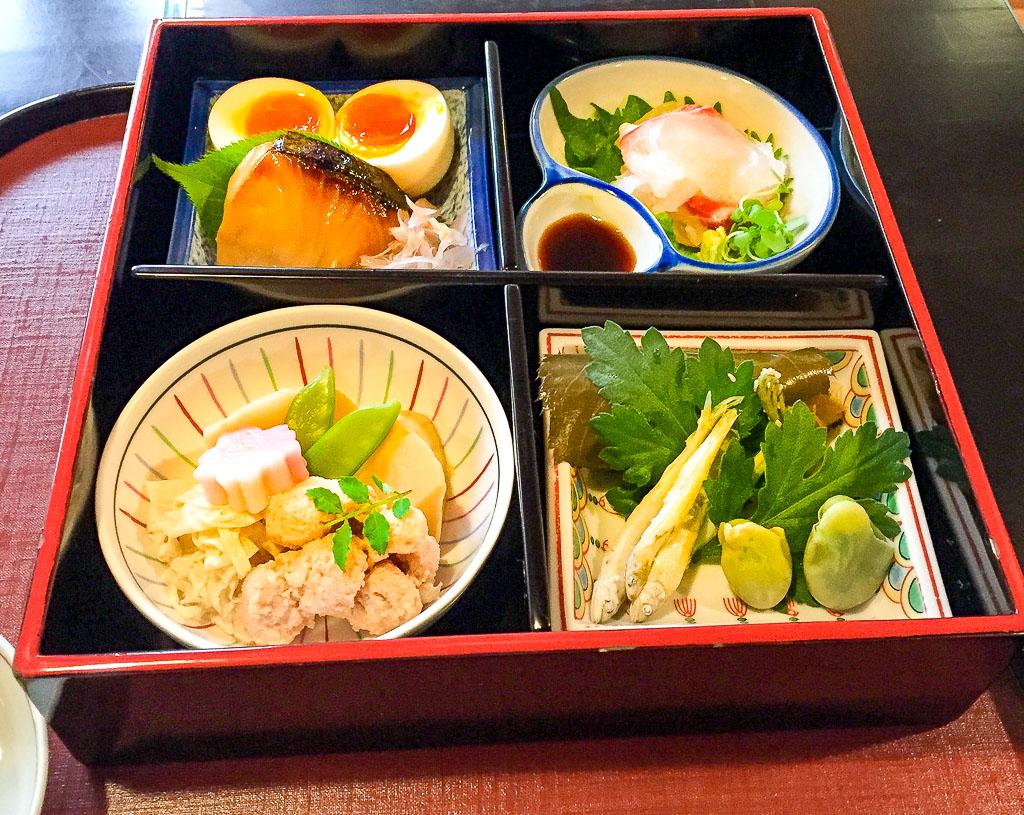 Hyotei's Bento Box- ¥5,400 (about $45)