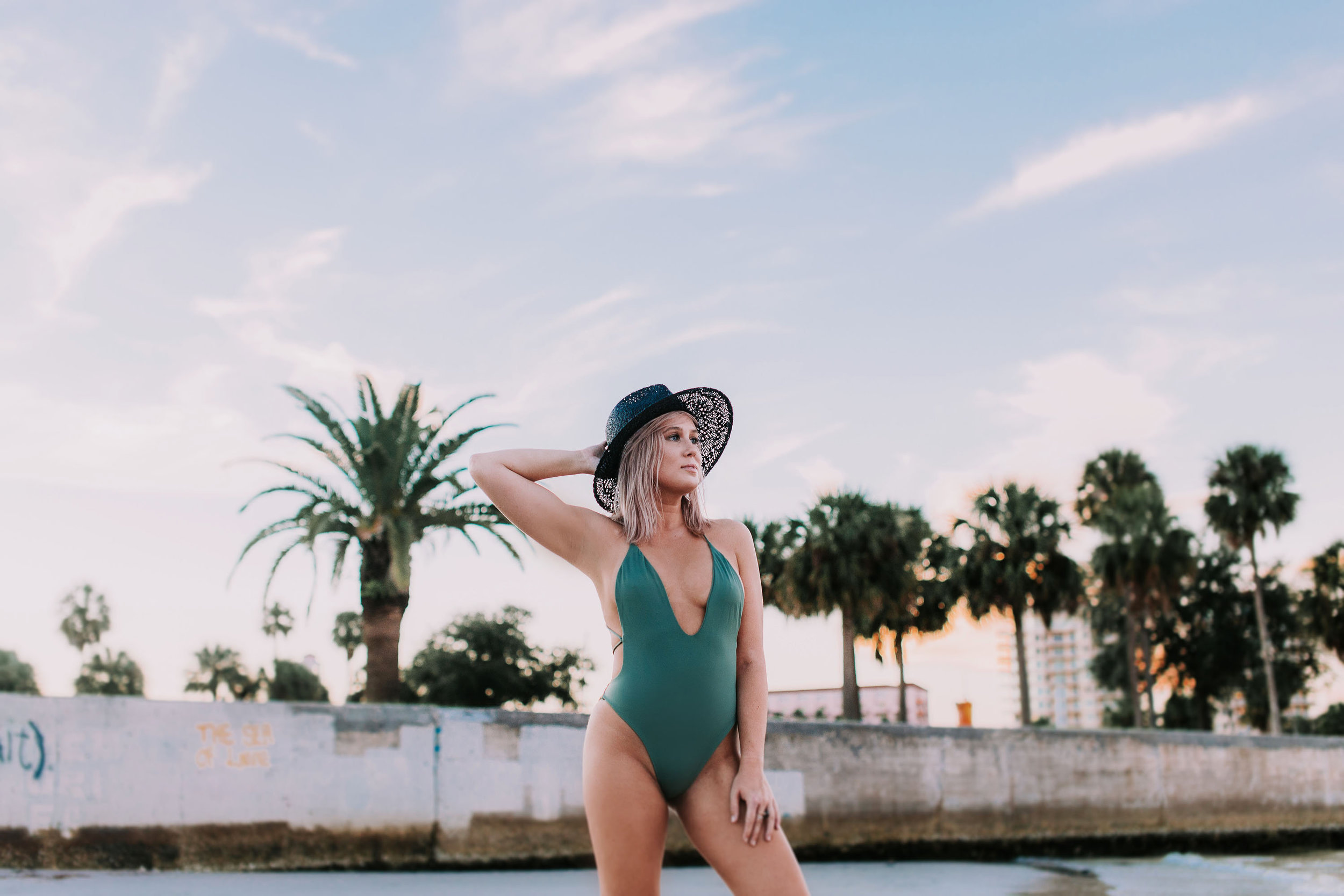 The Luxe Wife Army Green Onepiece 04