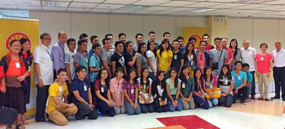 Ed Chua with the first batch of PhilDev-Shell scholars during the first Summer Camp held in 2014