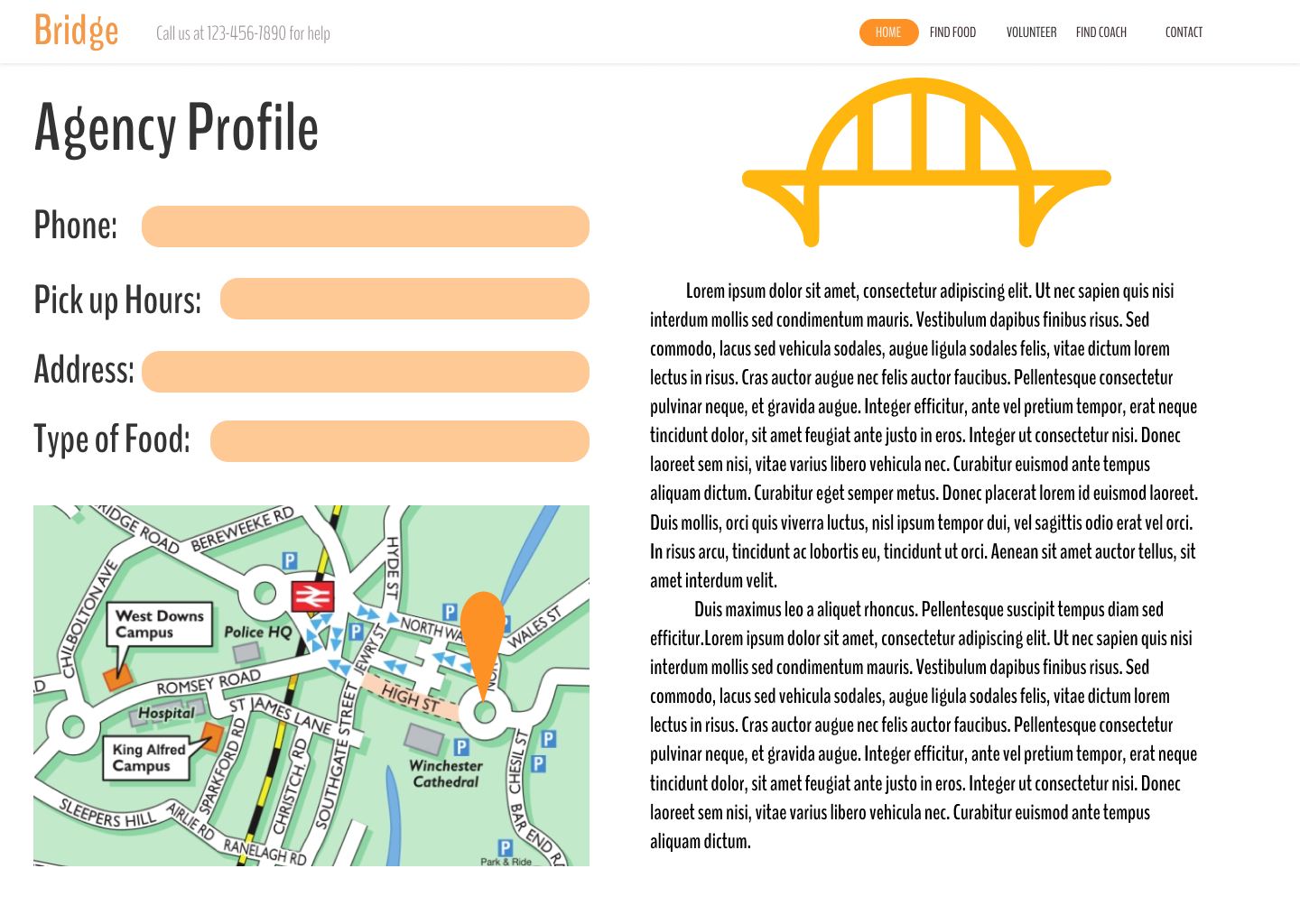 Agency Profile Page