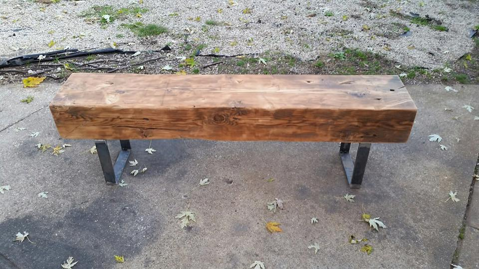 A customer wanted a railroad tile look to her bench.