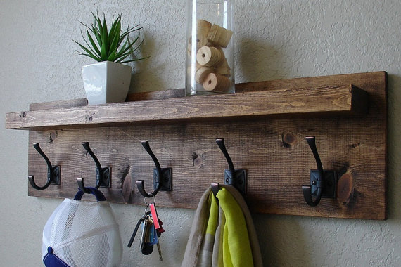 Custom coat rack shelf by wageoflabor.com